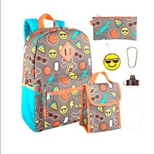 Other - NWT😎🍕🏀⚡️ Schoolyard 6-in-1  Backpack Set